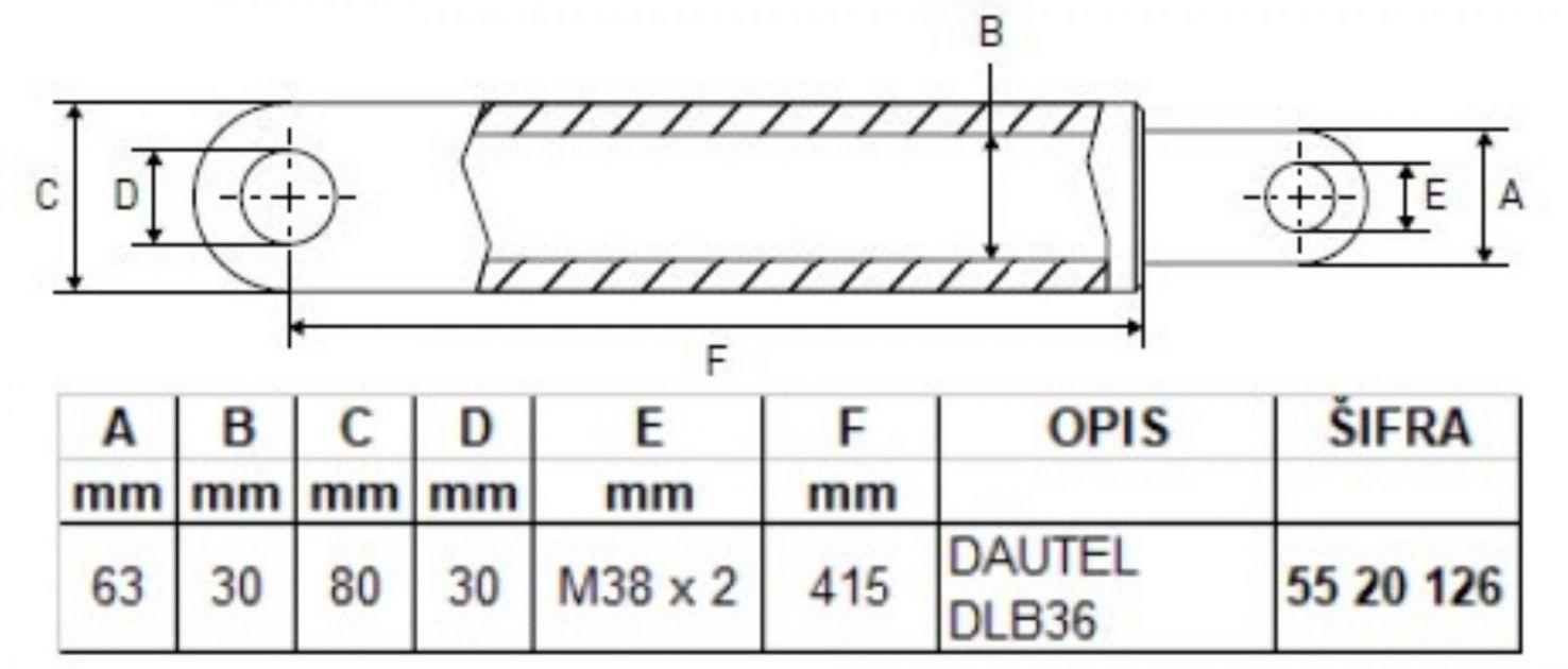 Dautel cilindar hidraulike