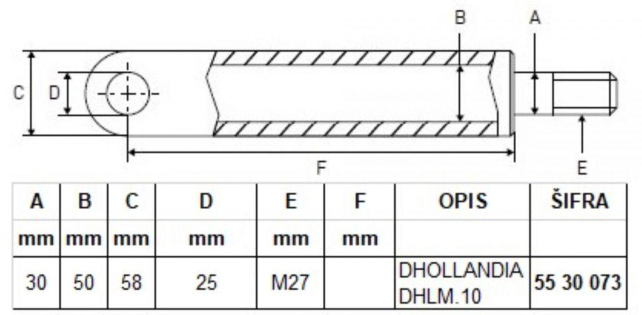 Dhollandia cilindar hidraulike
