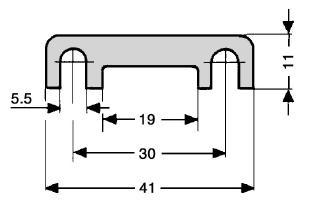 MEGA / BF2 osigurač lamelasti
